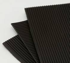 Rubber ribbed matting